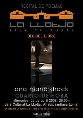 Ana Maria Drack: Recital de Poesía.