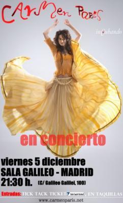 Carmen París en Concierto