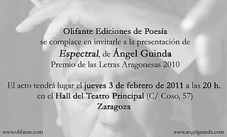 Ángel Guinda presenta Espectral en  Zaragoza